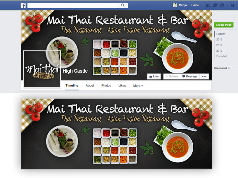 Facebook cover for a chinese Restaurant