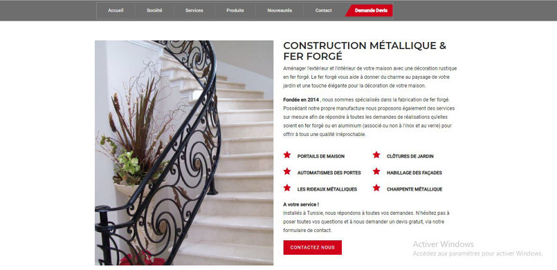 Company specialized in steel construction
