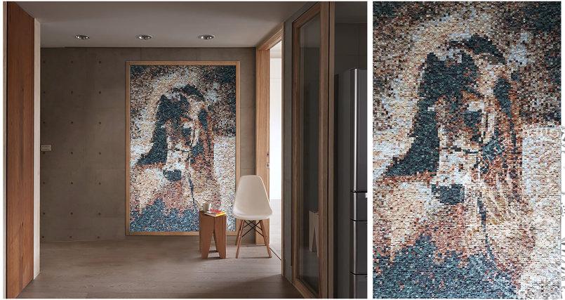 stones mosaic - horse