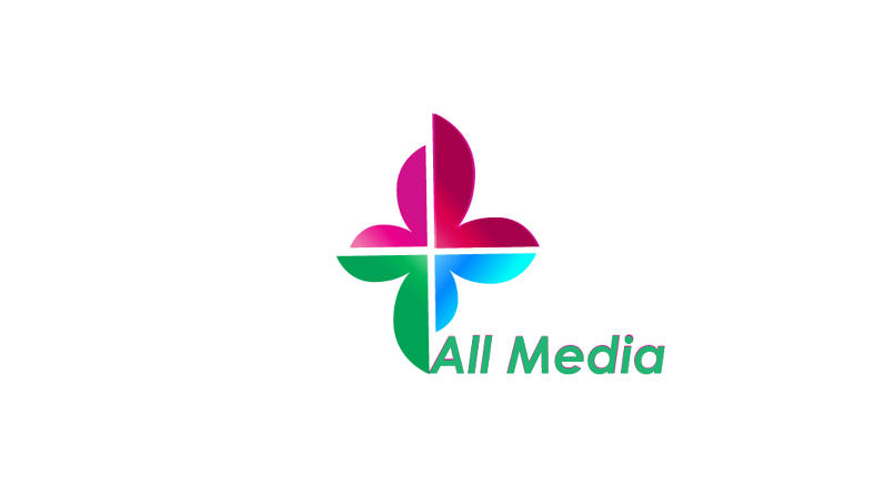 All Media logo & business card