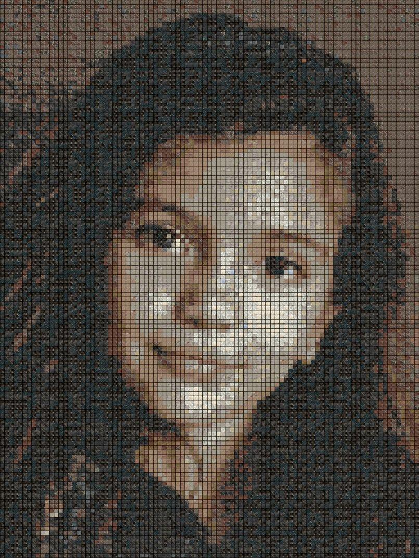 stones mosaic portrait