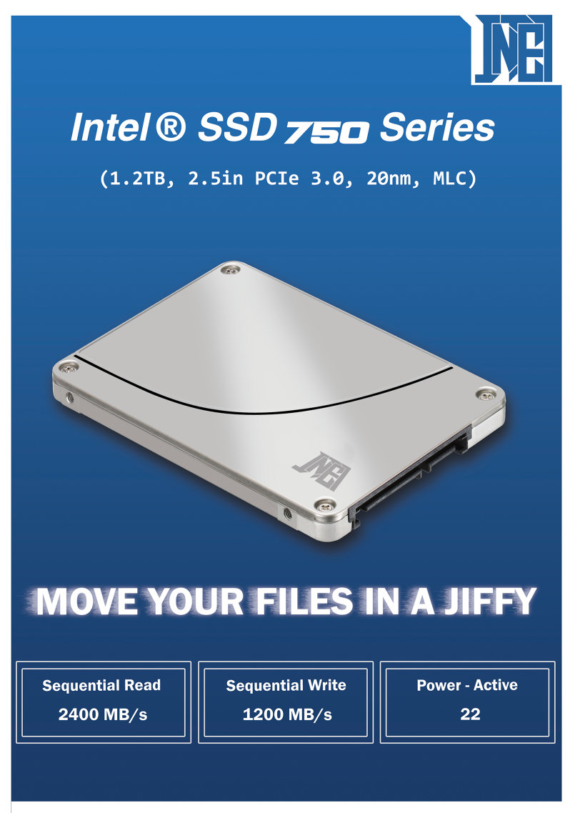 Intel hard disk ssd poster