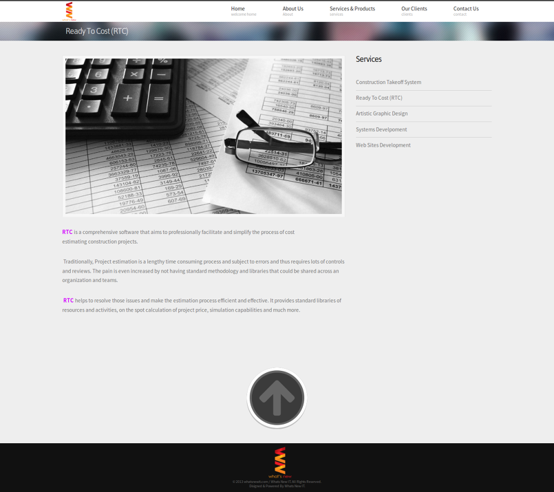 تطوير موقع لشركة whatsNewIT
