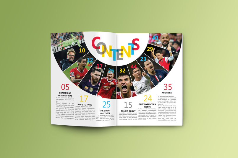 contents page design