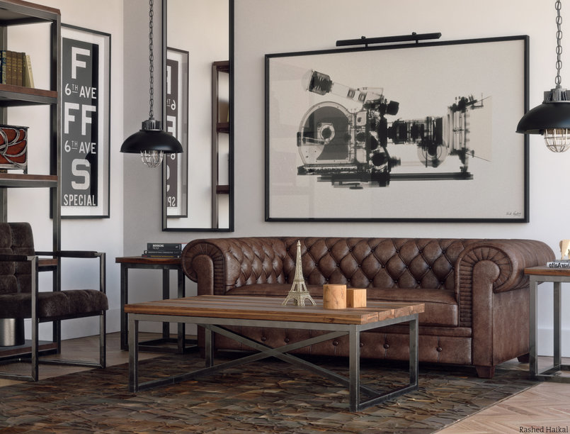 reference by Restoration Hardware  3ds max vray and photoshop