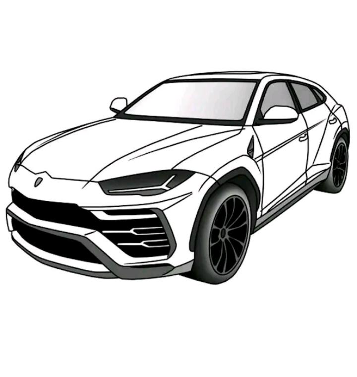 رسم سيارات واقعية