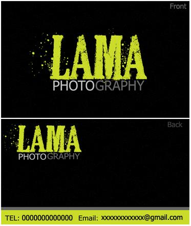 business card for lama photography .<br> بطاقة عمل للمصورة لما