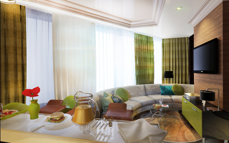 classic Reception &Modern  living