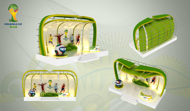Exhibition Stand Kids : Football exhibition stand kids stall by ramxo khan