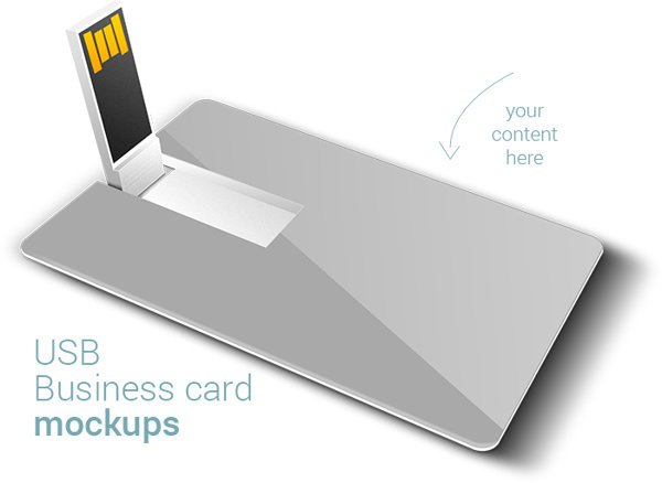 Free USB Business card mockups for personal use