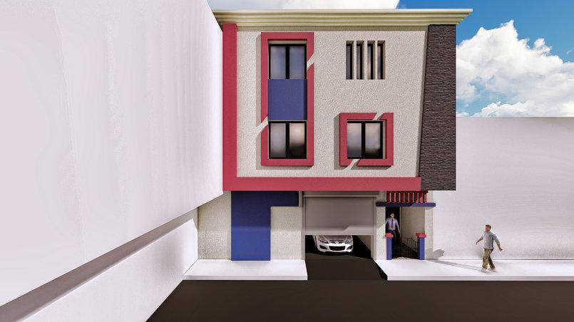 تصميم واجهة منزل من طابقين