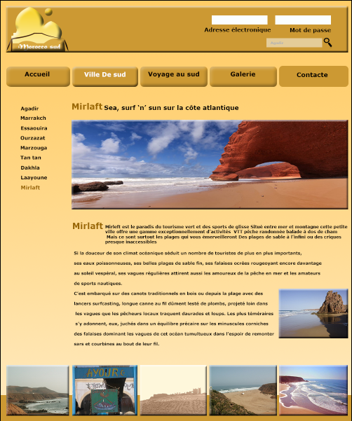 ( projet website ( Morocco sud
