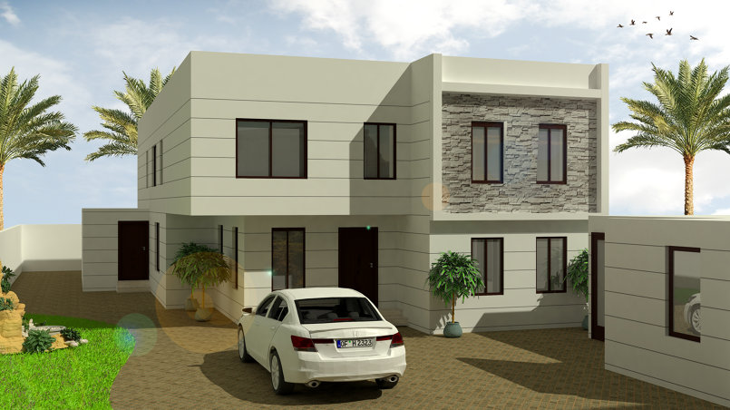 villa render for KSA Client