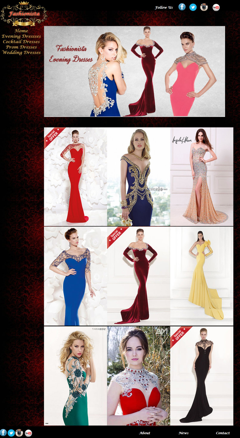 My Evening Dresses Page