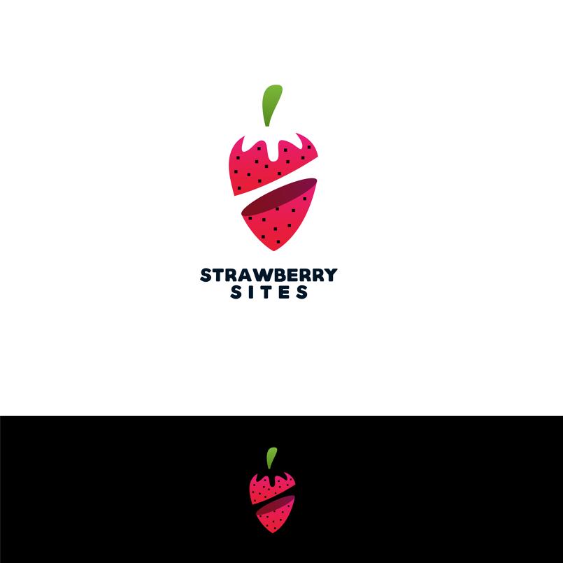 strawberry logo design