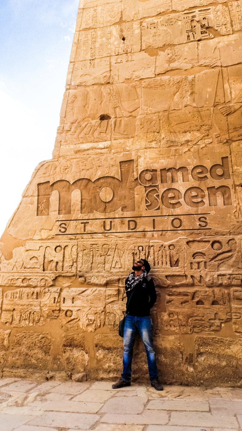 امام بوابة معبد ,,هابو,, بالأقصر - مصر
