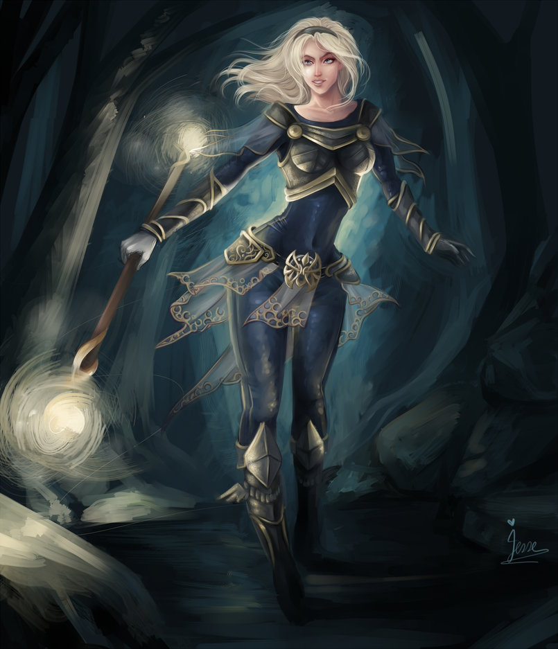 character fan art  lux leaague of legends