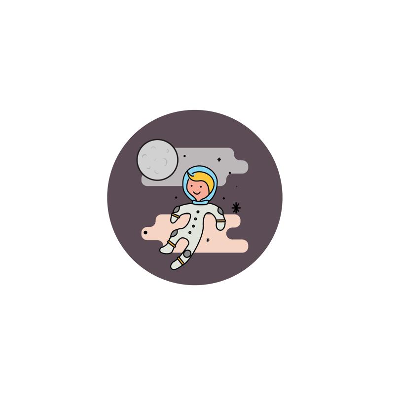 space kiddo logo design