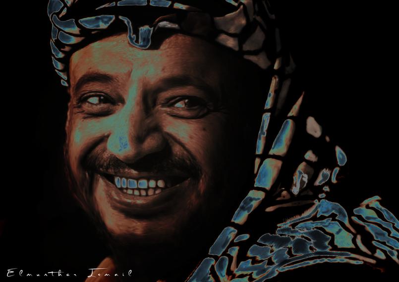 رسمة للراحل ياسر عرفات