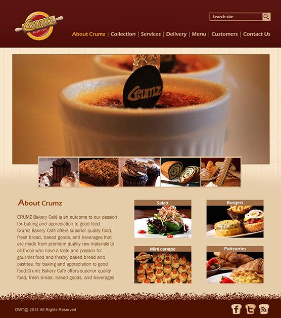 Crumz bakery web design