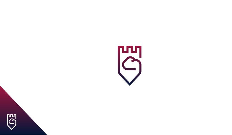 cloud protection logo design