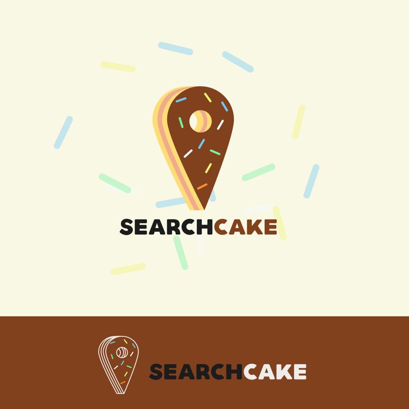 search cake logo design