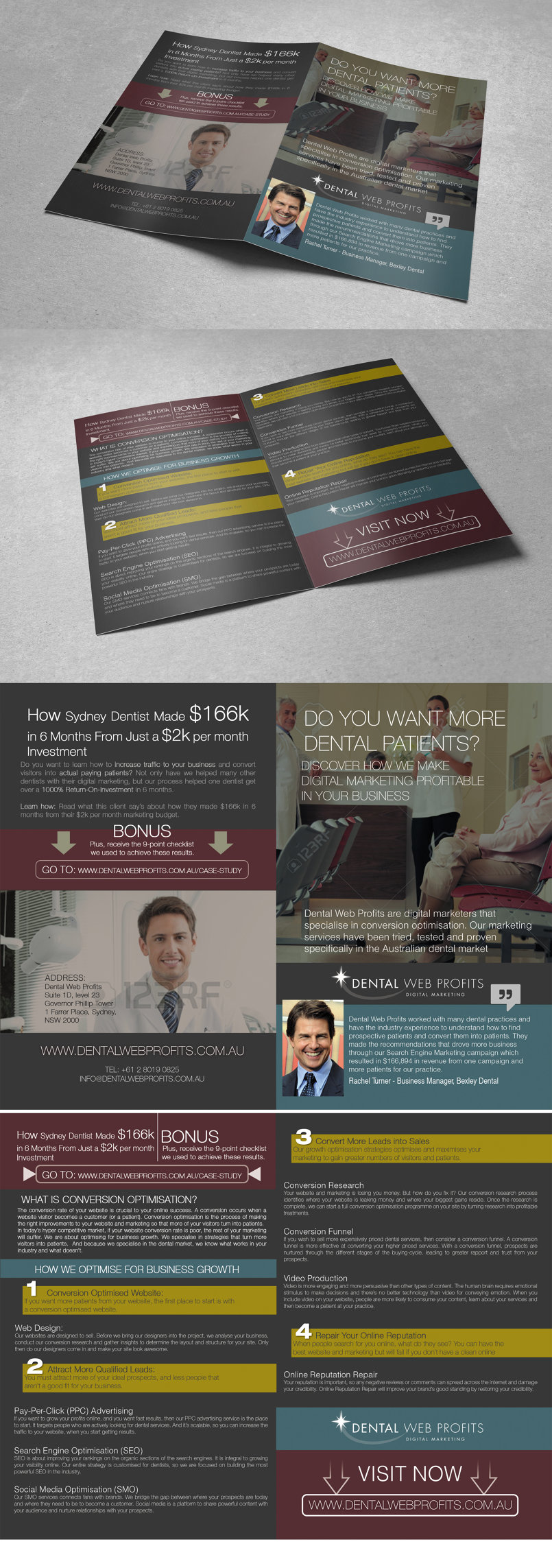 captivate dentists brochure design