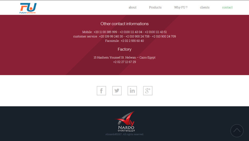 Future Uniform Website