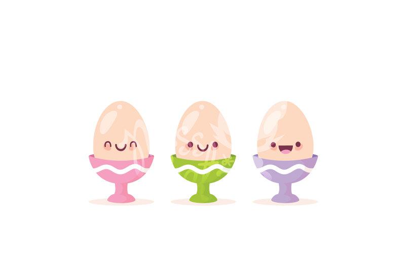 Kawaii Egg Cups