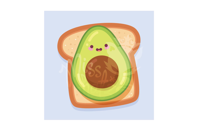 Kawaiii Avocado Toast