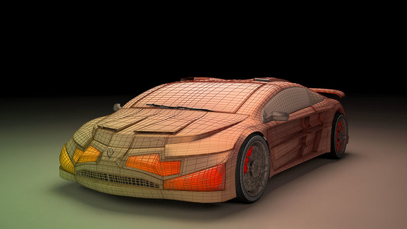 3ds max modeling car