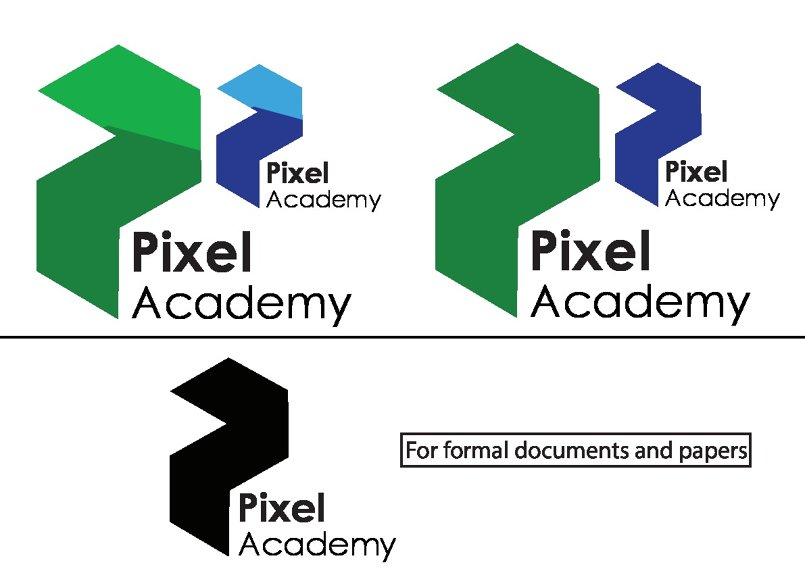 Pixel academy logo and poster