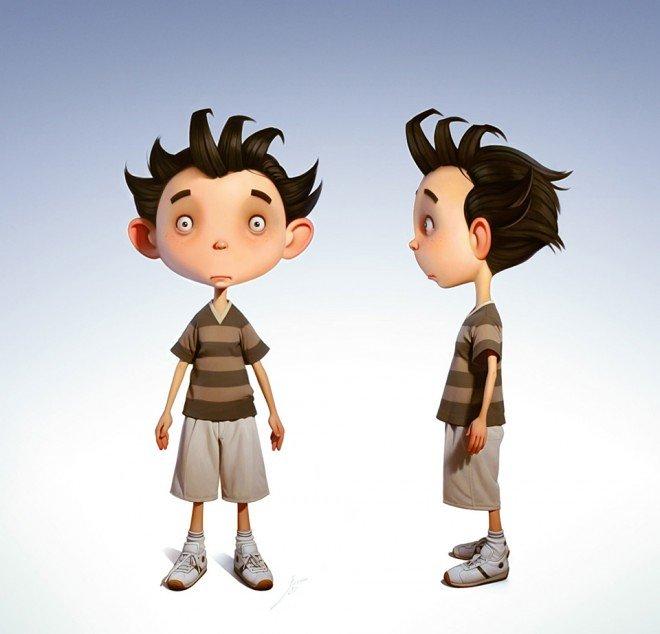 تصميم شخصيات ثلاثية الأبعاد