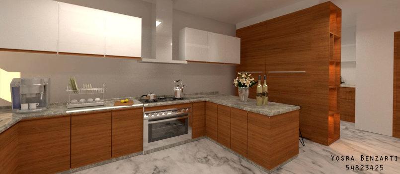 Interior rendering - Kitchen - 3Ds max /Vray