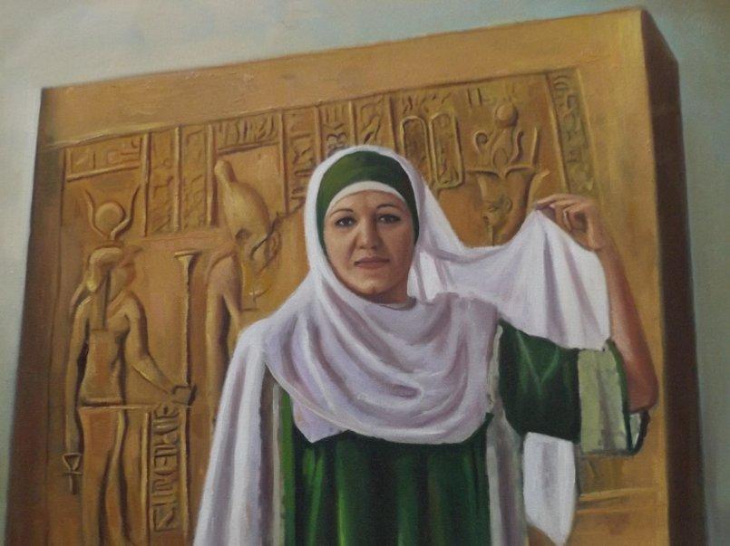 تفصيلية من اللوحة
