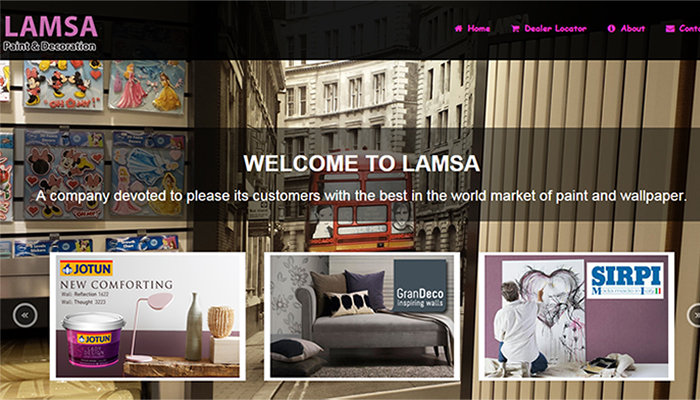 Web Design for Lamsa Company