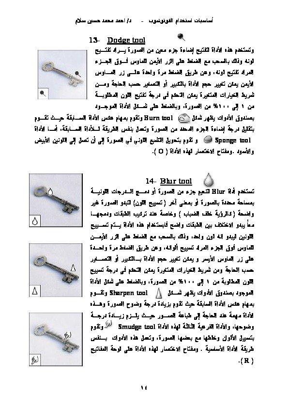 كتاب فى ساسيات استخدام الفوتوشوب