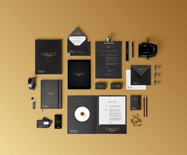 corporate identity design for Mystique Creation Interior Design