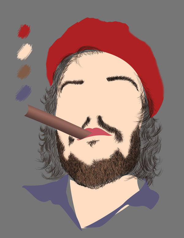 Che Guevara Digital painting t-shirt