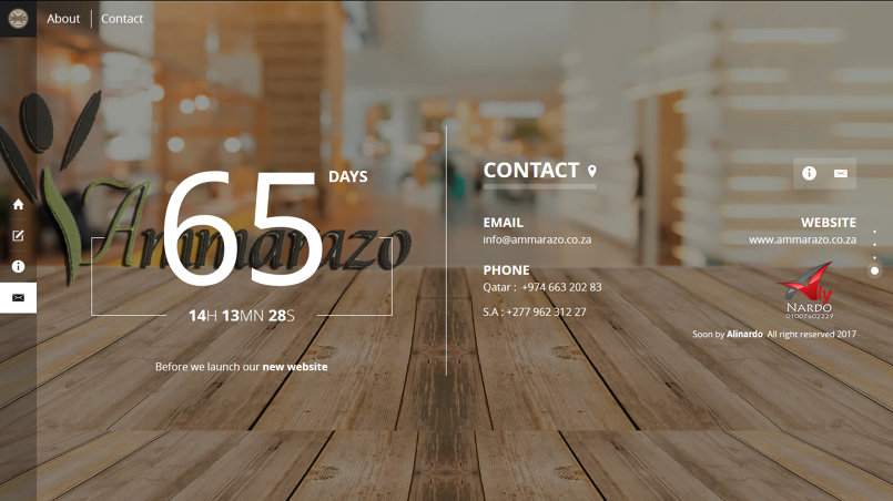 AMMARAZO Wood Construction Coming soon page