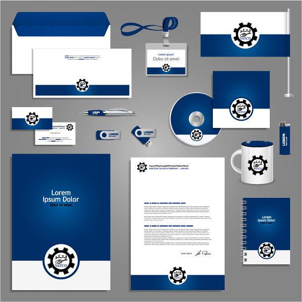 تصميم الورقيات والإحتياجات الداخلية للشركة