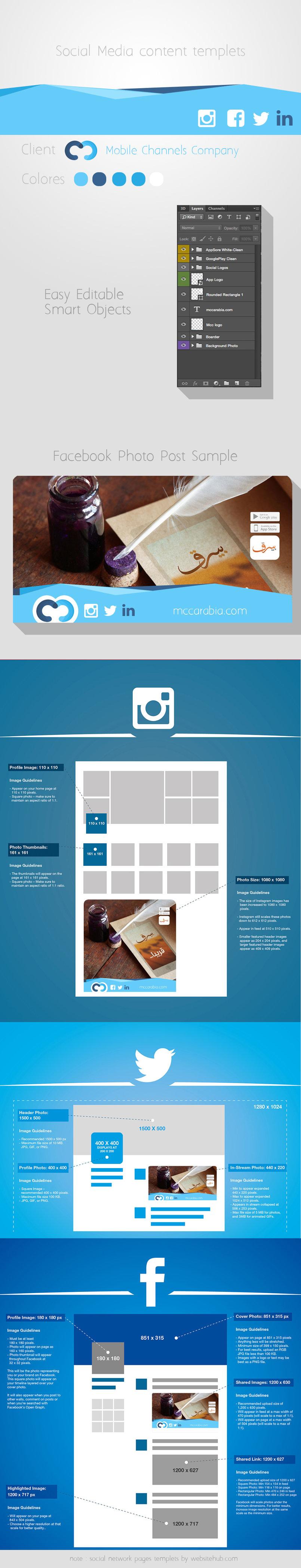 تصميم قالب شبكات تواصل اجتماعي