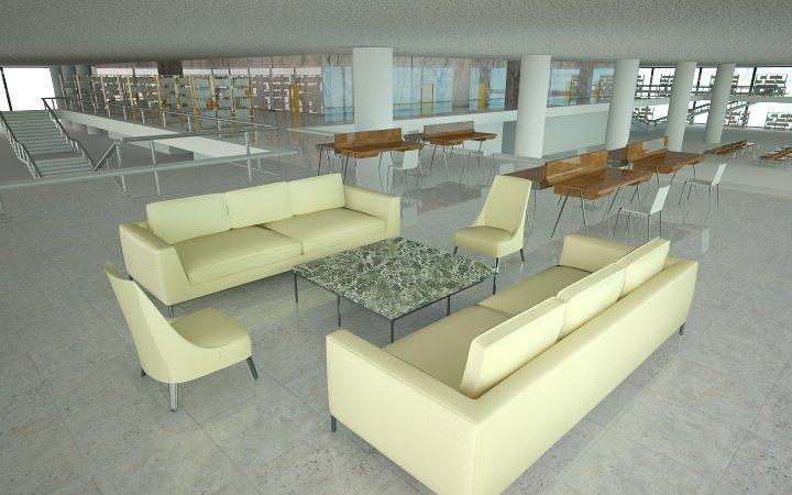 Large interior