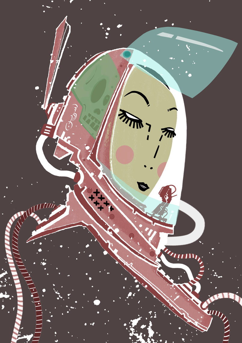 Anna Cosmonauta in Head Gear
