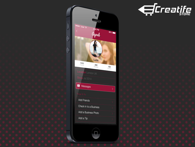 Ayoub. - Flat Mobile App UI Design +download Link