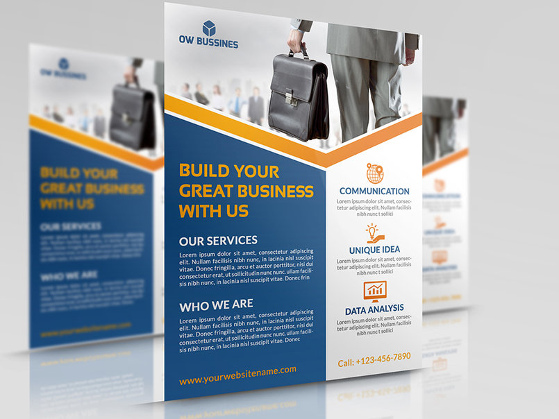 Corporate Business Flyer Template Vol15 Ow Pictures