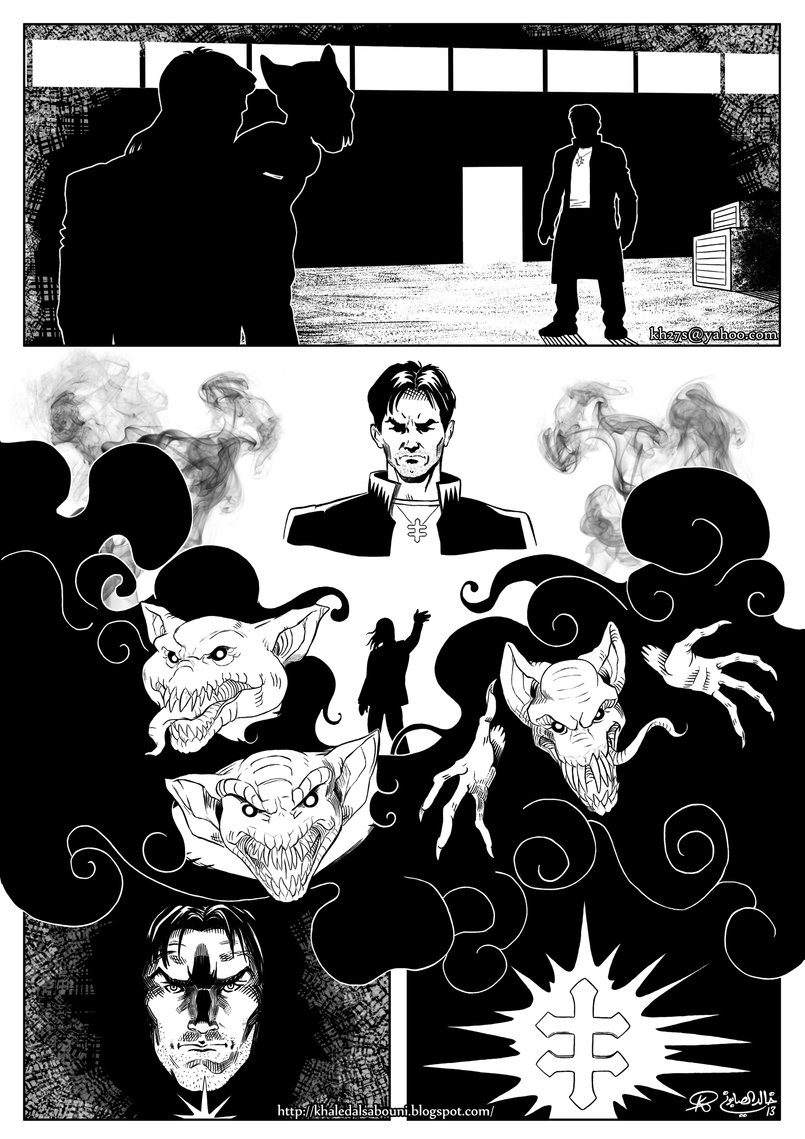 This is the second of 4 sample pages I did for Top Cow Productions. Characters and story belong to Top Cow Productions.
