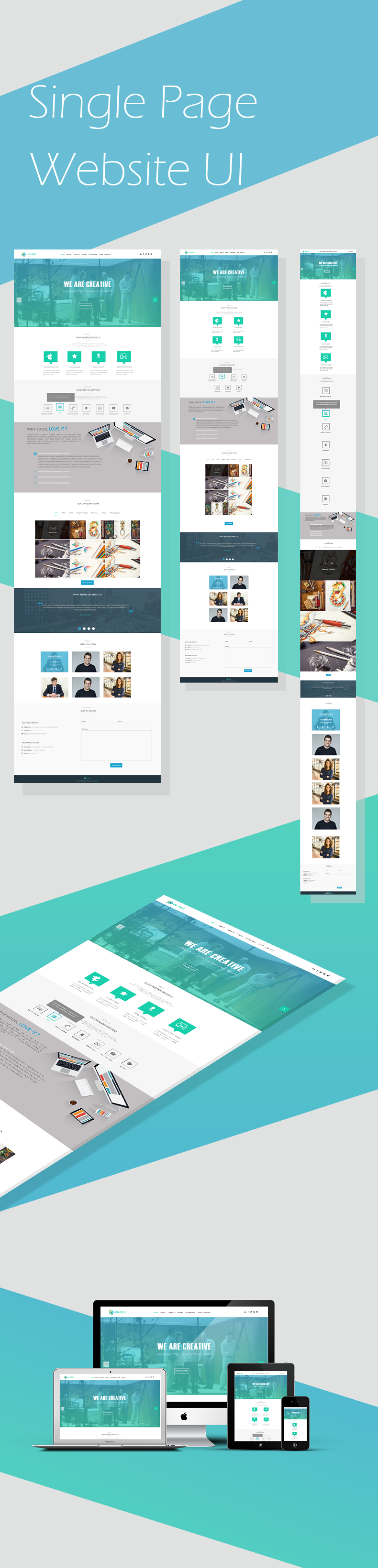 Single Page Responsive Web Design