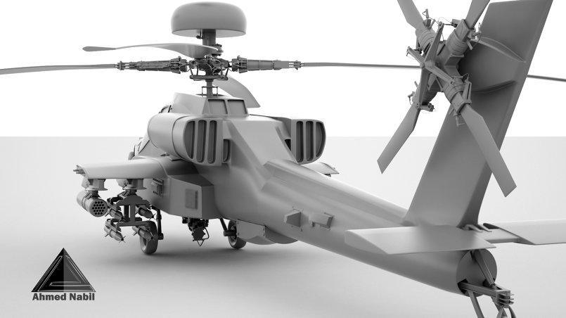 Modeling Hard Surface AH-64 Apache