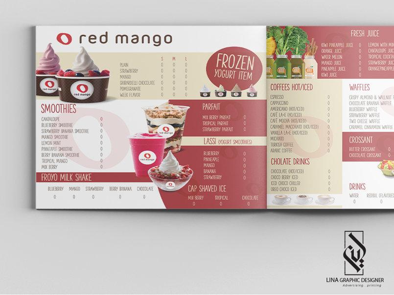 منيو مطعم red mango